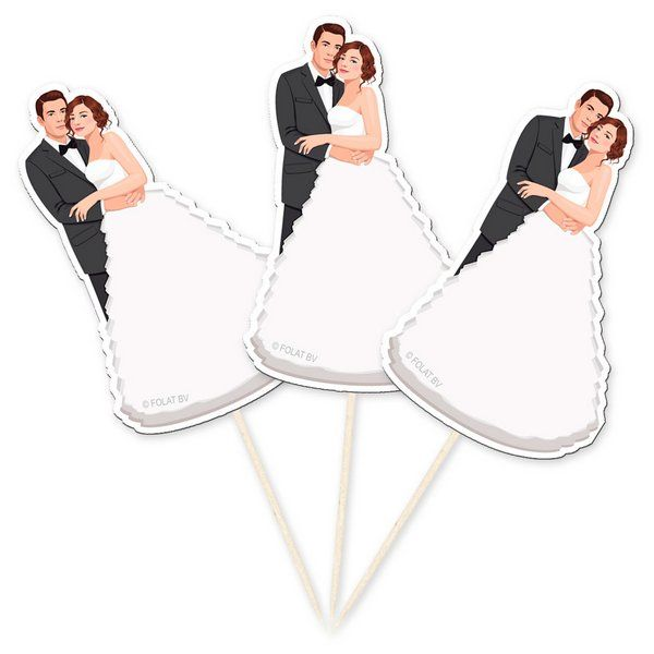 Wedding Picks Bride & Groom 10s