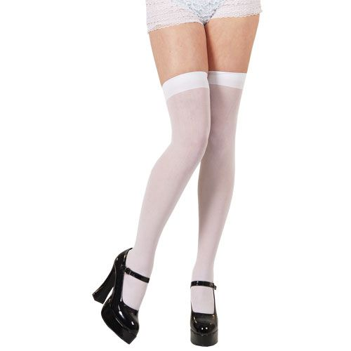 White thigh Highs Sexy Erotic Sissy Cosplay Fancy Dress Cosplay