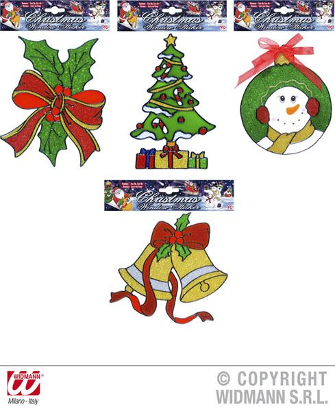 Window Stickers Christmas 4 Styles Xmas Festive Seasonal Nativity Party