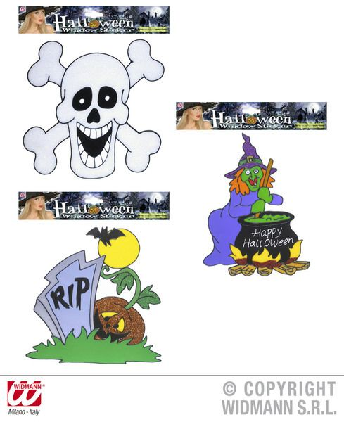 Window Stickers Halloween 3 Styles Creepy Trick Treat Party