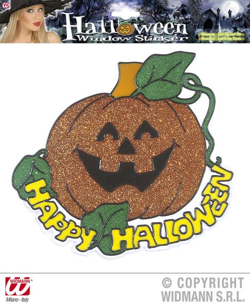 Window Stickers Happy Halloween Pumpkin 25cm Creepy Trick Treat Party