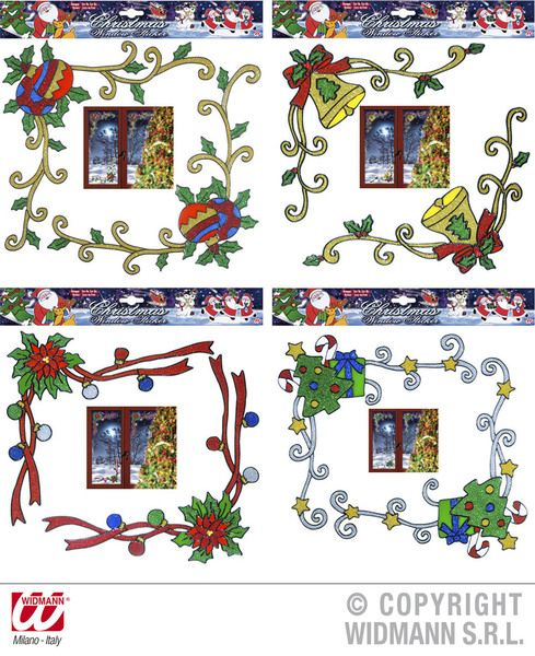Window Stickers Set Of 2 Christmas Corner Xmas Festive Seasonal Nativity Party