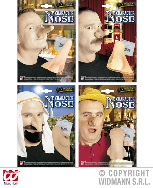 Witch Theatrical Nose W/ Adhesive 4 Styles Halloween Wicked Villian Fancy Dress